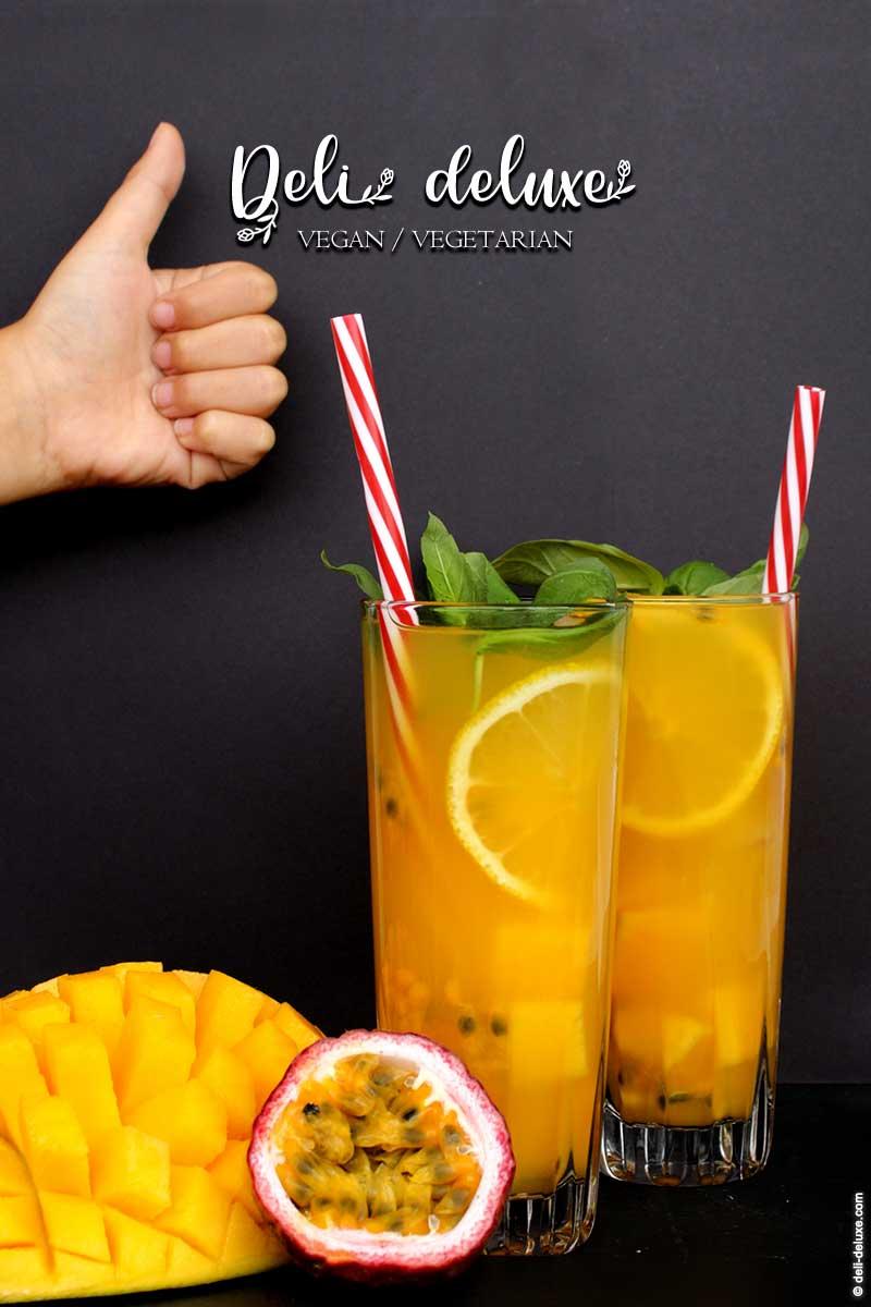 Fruchtiger Eistee mit Mango & Maracuja 🥕🥕