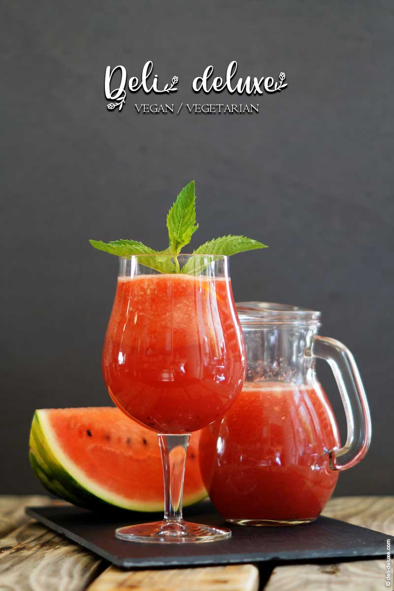 Wassermelonen-Limonade ohne zusätzlichen Zucker 🥕🥕
