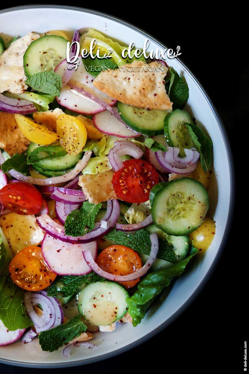 Fattoush Salat mit Pita-Chips 🥕🥕