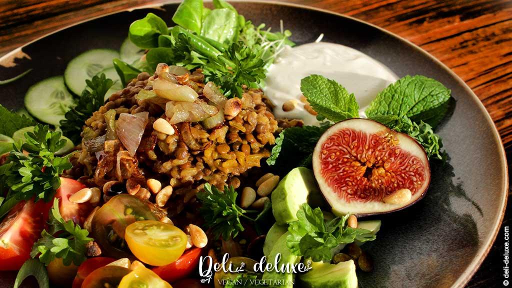 Mujadara Rezept - Libanesischer Linsen-Reis