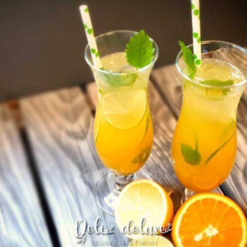 beste Sommer Limonade für heiße Tage aus frischen Orangen, Limetten und Zitronen
