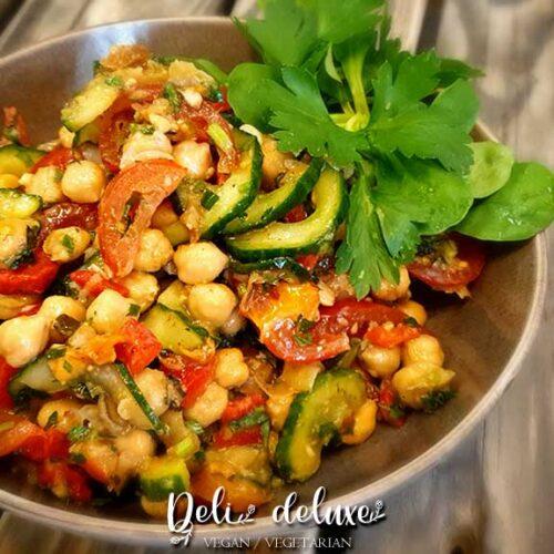 Mediterraner Kichererbsen-Salat