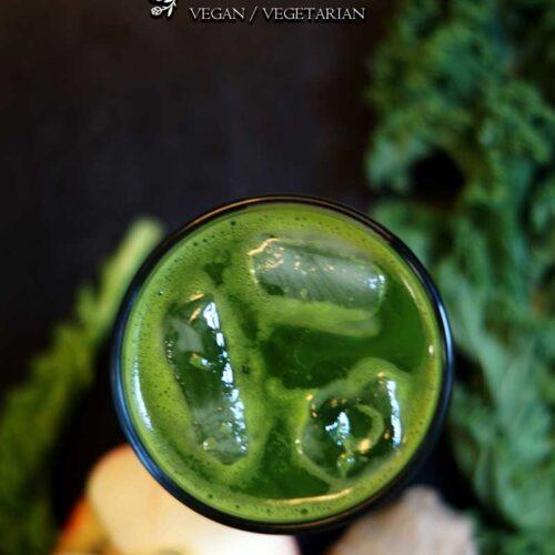 Grünkohl-Ingwer Limonade mit Apfel