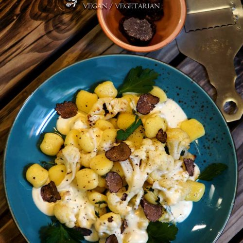 Kartoffel-Gnocchi mit Blumenkohl und Thymian-Sauce